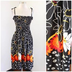 Anna Sui for Anthropologie Floral Silk Dress